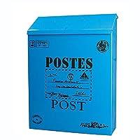 金属製のメールボックス、郵便受け ポスト壁掛郵便受け、家またはオフィスの部屋の装飾のためのポストボックス
