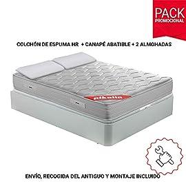 PIKOLIN-Pack-Colchn-viscoelstico-Espuma-HR-canap-con-Base-abatible-en-Madera-y-Almohada-visco
