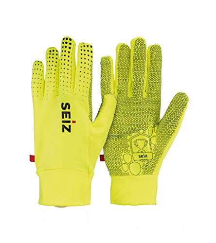 SEiZ Unisex– Erwachsene Champion Handschuhe, Neongelb, 8