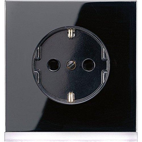 Jung LS520-OSWLEDW Schuko-stopcontact met LED-oriëntatielicht, zwart