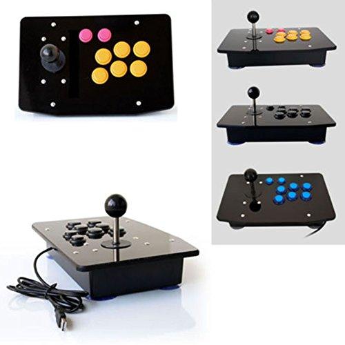 Cewaal DIY Arcade Machine Joystick Panel acrílico + Piezas de repuesto del conjunto de carcasa de caja