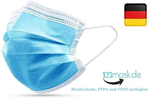 10 Stück Einweg Maske Gesichtsmaske Vlies Einwegmaske Mundschutz Staubschutz mit Ohrschlaufen