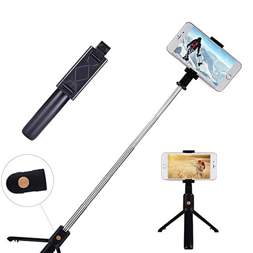 Best Selfie Stick - Tripod Conversion with Bluetooth Remote Control