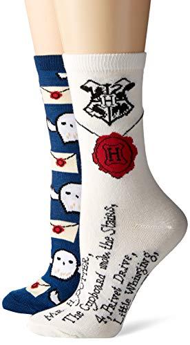 Harry Potter Hedwig Letter to Hogwarts Juniors/Damen Crew-Socken, 2 Paar
