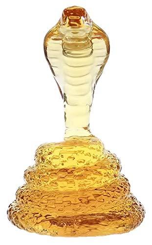 PGS Dekantierer König Cobra schlangenförmige Handwerk Weinflasche, 500/1000 mlHigh Borosilicat Whisky Dekanter, Schlange Dekanter für Alkohol, Scotch, Bourbon, Wodka (Size : 1000ML)