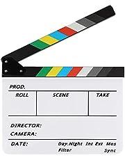 Zacro filmklep hoogwaardige regelklep 30 x 25 cm bont Directors film voor films video rekwisieten familiedecoratie TV-serie Studio live reclame DIY video