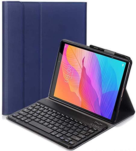 C/N Funda Teclado Español Ñ para Lenovo Tab P11, Español Ultra Slim Teclado Keyboard Case con Magnético Desmontable Inalámbrico Bluetooth para Lenovo Tab P11 11' 2020 TB-J606F, Azul