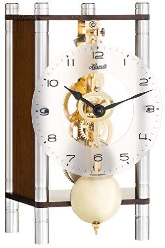 Hermle moderne tafelklok met mechanisch uurwerk - Modern Style notenhout 20cm- 23036-030721