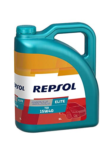 REPSOL Elite Tdi 15W-40 Aceite De Motor Para Coche, 5L