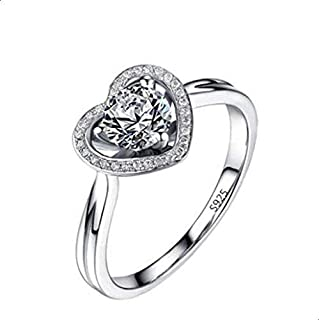 Women's silver ring encrusted with crysta 9