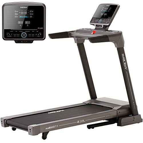 Laufband MAXXUS RunMaxx 7.1 Klappbar - Vielseitig Einsetzbare, Platzsparende Treadmill - 18km/h, Starker 2,5 PS DC-Motor - Großzügige Lauffläche Für Sicheres Trainingsgefühl - Ideal Für Zuhause