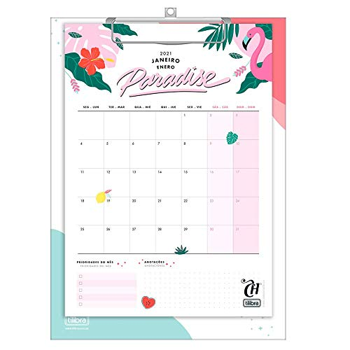 Calendário Planner Prancheta 2021, Capricho, Multicolorido