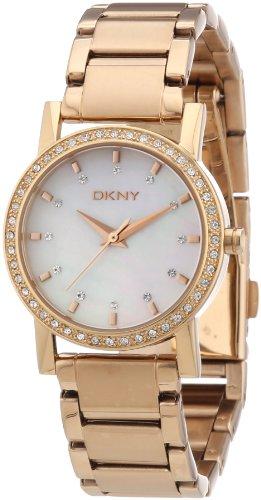 DKNY Damen-Armbanduhr XS Analog Quarz Edelstahl beschichtet NY8121