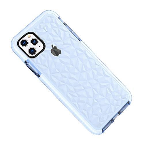Desconocido Funda iPhone 11 Pro MAX, Carcasa Silicona Transparente Protector TPU Airbag Anti-Choque Ultra-Delgado Anti-arañazos Case 3D Modelo Geométrico de Diamante Funda (iPhone 11 Pro MAX, Azul)