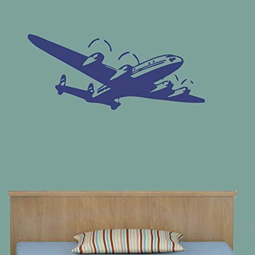 Tianpengyuanshuai Vliegtuig Muurtattoos Home Decoration Vinyl Kunst Muursticker Kinderkamer Baby Boy kamerdecoratie
