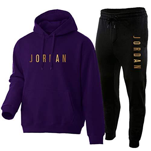 Bulls# Jordan - Sudadera con capucha para hombre y mujer con capucha para entrenamiento de manga larga con capucha, pantalones de microforro polar B-M