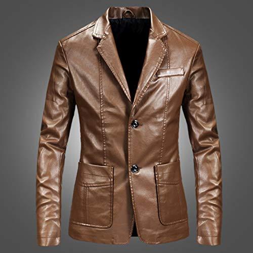 Mode Männer Blazer Und Jacken Slim Fit Lederjacke Schwarz Party/Hochzeit/Business Blazer Lederjacke Herren Outwear 4XL Gelb