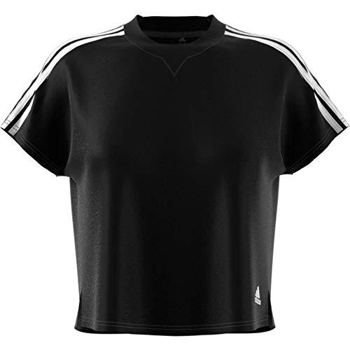 adidas Atteetude Tee, T-Shirt Donna, Nero e Bianco, M