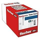fischer 670447 caja de tornillos para madera rosca total 5x50, cincado