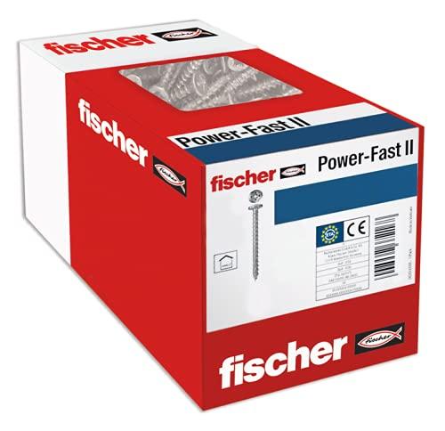 fischer 670244 Caja de Tornillos para Madera Rosca Total 4x30, cincado