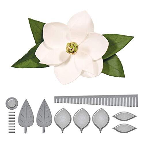 Flor de Magnolia Grabados A presión Troqueles Cortes Troqueles de corte de metal Arte de papel hecho a mano Scrapbooking Plantilla en relieve