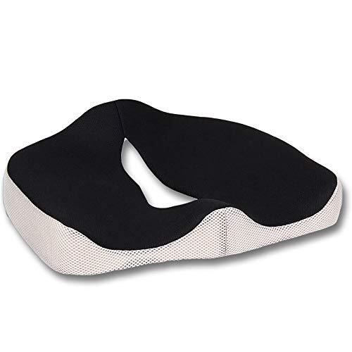 LANGYINH 100% Memory Foam Seat Cushion, Houding Seat Pads, Coccyx en Tailbone Pain Relieve, voor Office Bureau Stoel, Auto, Rolstoel & Vliegtuig