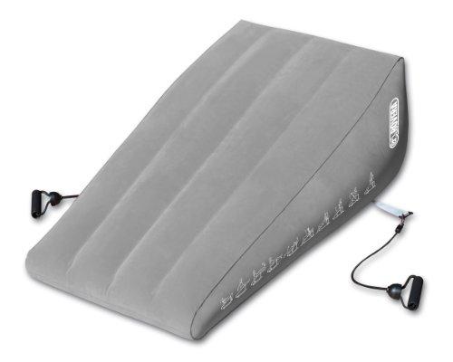ROVERA Air Bench Panca Gonfiabile per Addominali con Elastici, Grigio