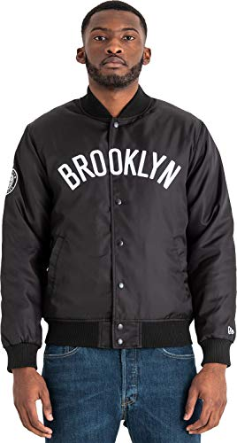 A NEW ERA Era NBA Team Wordmark Jacket Bronet Chaqueta, Hombre, Black, S