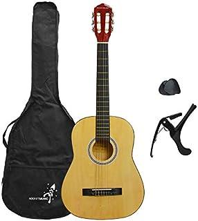 Gitara klasyczna w zestawie startowym dla początkujących Rocket, rozmiar 3/4, gitara akustyczna z nylonowymi strunami, fut...