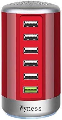 Quick Charge 3 0 USB Wall Charger 6 Ports Desktop QC 3 0 USB Hub Charging Station Multi USB product image
