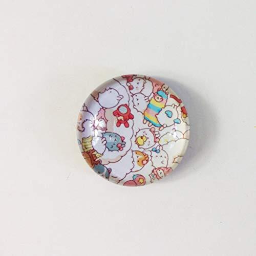 JSJJAJN Nuevo diseño de 1 Pieza de Cristal magnética Animado imán Pizarra de la Historieta Linda imanes Imán de refrigerador (Color : 4)
