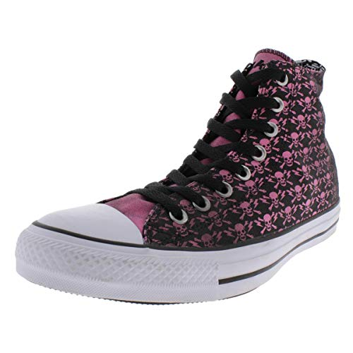 Converse Chuck Taylor All Star High The Clash Kollektion Limited Edition 'Skulls, Bones and Flashes' Black/Chateau - Rose/White 155073C 11 Mens 13 Womens 11 UK 45 EU 29.5 cm
