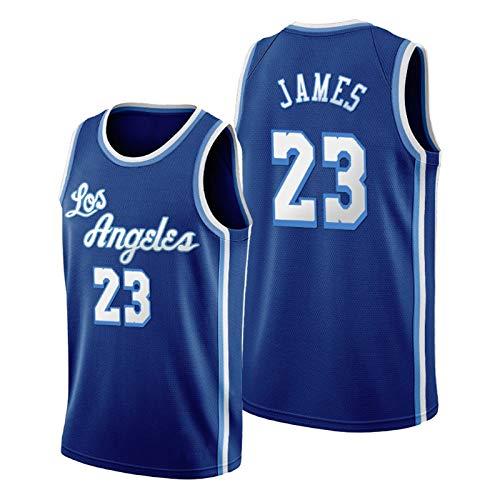 QJL James Basketball Jerseys para Hombres, 2020-21 Lakers James Classic Swingman Jersey - Versión Bordada Azul (S-XXL) M