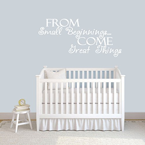 Autocollants muraux avec Citation « from Small Beginnings Come Great Things » pour Chambre d'enfant