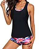 Yonique 3 Piece Athletic Tankini Swimsuits...