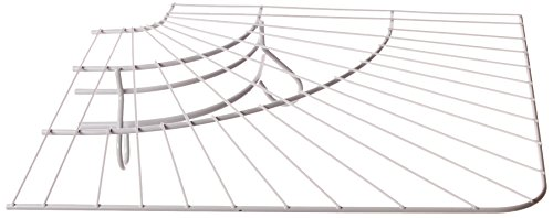Rubbermaid FreeSlide Wire Shelving, White, 16-inch Corner (FG3G4000WHT)