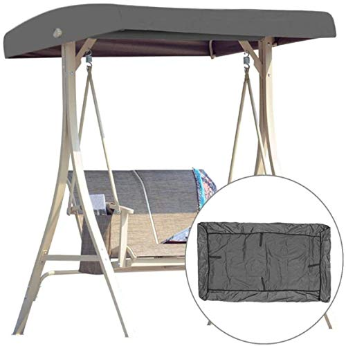 Universal Replacement Canopy for Garden Swing Seats 3 Seater, Cover Patio Hammock Cover Top Garden Outdoor - UV Protection (Grey)