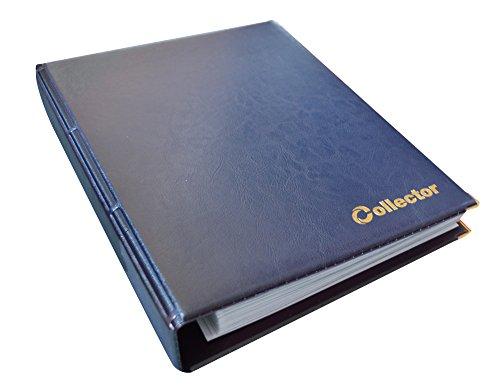 Collector Banknotenalbum für Verschiedene Banknoten-Größen - mit Seiten und Weiß Trennblättern + Index - Blau