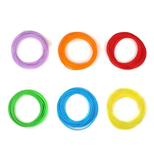 Bellaluee Verbrauchsmaterial für 3D-Druckstifte PLA Colourful Printing Pen Filament Refill Umfassende Kompatibilität Hohe Präzision