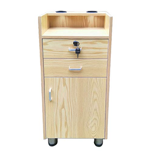 Zzmop Barbería del gabinete Productos para el Cabello Vitrina de Madera gabinete Retro, con 2 cajones, Armario Vertical (tamaño: 38 * 28 * 80 cm)