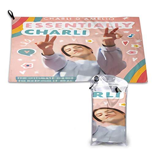 Yuantaicuifeng Charli D 'Amelio 15.7' 'X 31.5' 'Toallas de Secado rápido súper absorbentes, Toalla de baño para Piscina para Camping/Deportes/Viajes/Fitness.