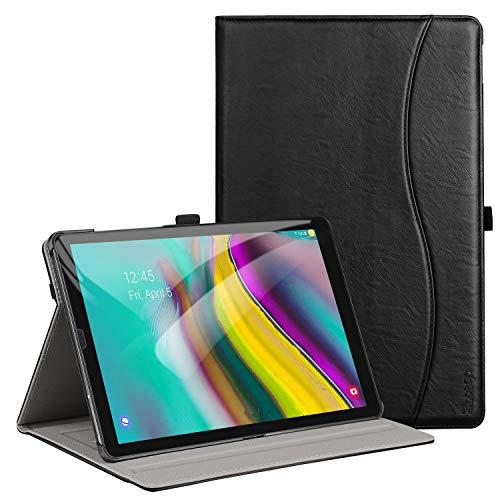 ZtotopHülle Hülle für Samsung Galaxy Tab S5e 10.5 (T720/T725),Premium Leder Geschäftshülle mit Ständer,Mehrfachwinkel, Auto Schlaf/Aufwach Funktion,mit Kartensteckplat,Schwarz