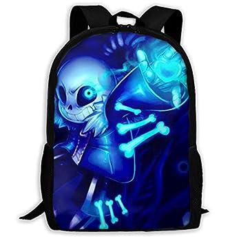 Un-der-Tale Sans Backpack,Washable 3D Casual Daypacks Unisex Teen s School Bag 17inch
