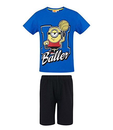 MINIONS Despicable Me Jungen Shorty-Pyjama - blau - 104