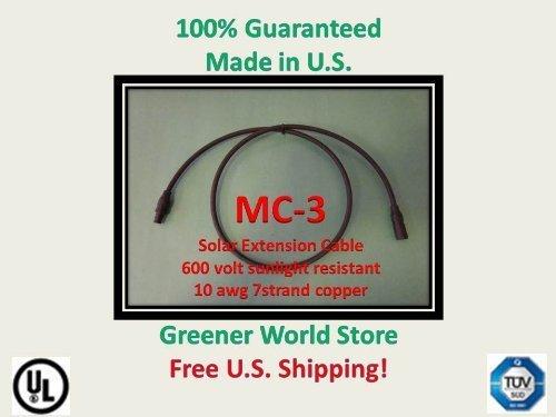 15Fuß MC3Solar Kabel für Photovoltaik Solarzellen mit MC3Solar-Stecker Kabel 15Ft Lang und MC3Stecker Bei je end. von Grüneren Welt Store Produkte