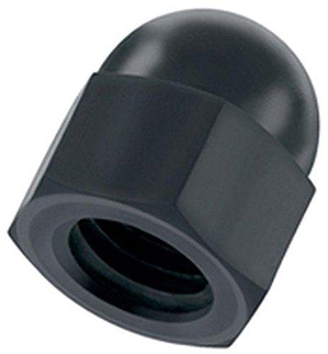 Kunststoff Hutmutter M8 schwarz Nylon 10 Stück