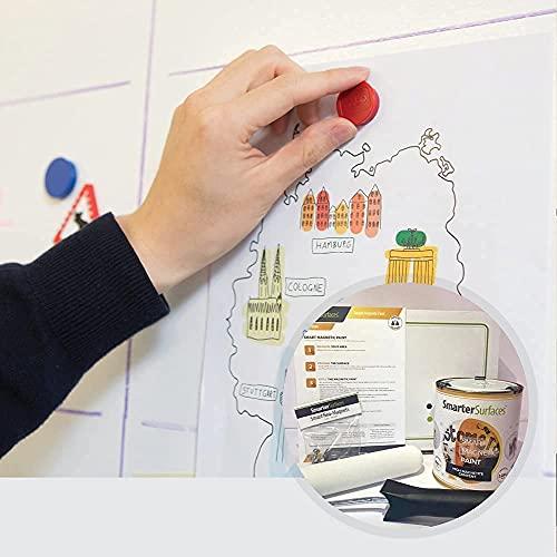 Peinture Magnétique Smart 3m² - Peinture Pour Créer Des Surfaces Aimantées Réceptives Aux...