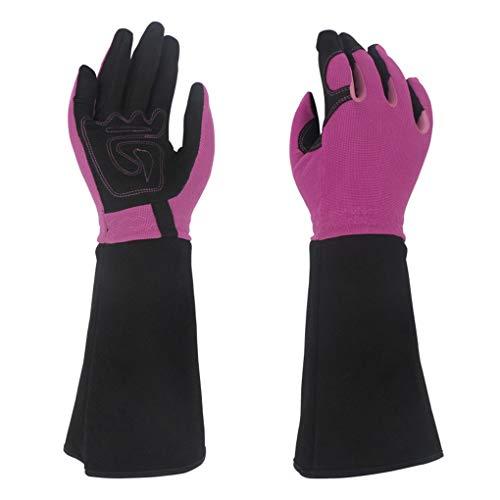 MOBFIDOFG Safety Work Gloves Women Professional Gardening Gloves ThornProof Flower Planting Yard Work Long Garden Gloves (Color : 2)