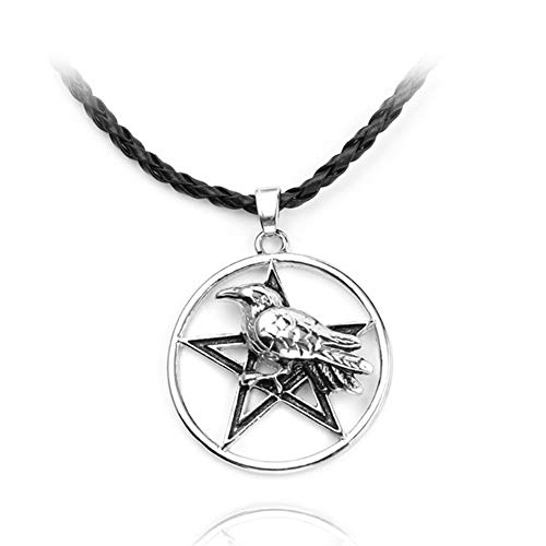 chenyou Pendant Pentagon Metal Animal Necklaces Pendants Religious Charm Women's Jewelry Antique Pendant Necklace Men Amulet necklace (Metal Color : Pentagon)