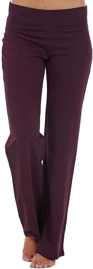 ChicWhisper Ladies Cotton Rich Straight Leg Joggers